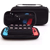 Soyan Carrying Case for Nintendo Switch and Accessories, 19 Game Card & 2 Micro SD Card Holders (Black)