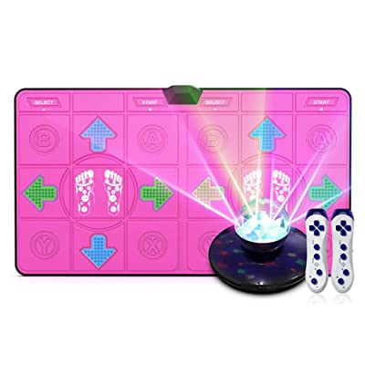 Dance mat Quality Colorful LED Massage Dance Blanket Wireless Double somatosensory Game Machine Running Yoga Fitness by TV HDMI Interface Free Stage Atmosphere Lights, 8G Memory Card -2020: Home & Kitchen