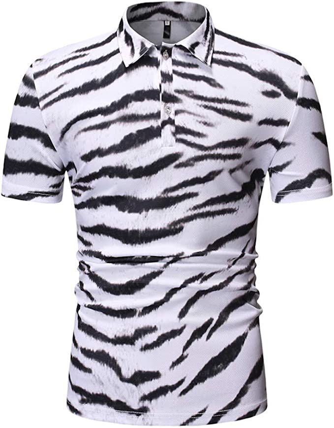 DFHYAR Mens Funny Casual Hipster Short Sleeve Button Down Graphic Shirt