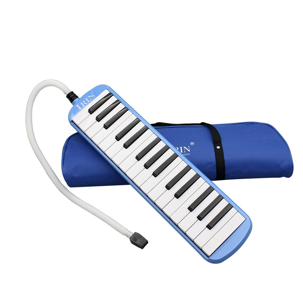 【Best Deals】OriGlam 32 Piano Keys Melodica Musical Instrument, Melodica Piano Toy Playing Melodica with Carrying Bag for Music Lovers Children Students Beginners Gift (Blue)