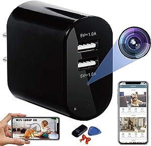Hidden Cameras - Cameras Espias Ocultas - Small Phone Charger Camera - Hide Cameras Spy for Home - Hidden Nanny Spy Cam WiFi - Disguised Camera Discreet Secret Wireless Spy Cameras with Video
