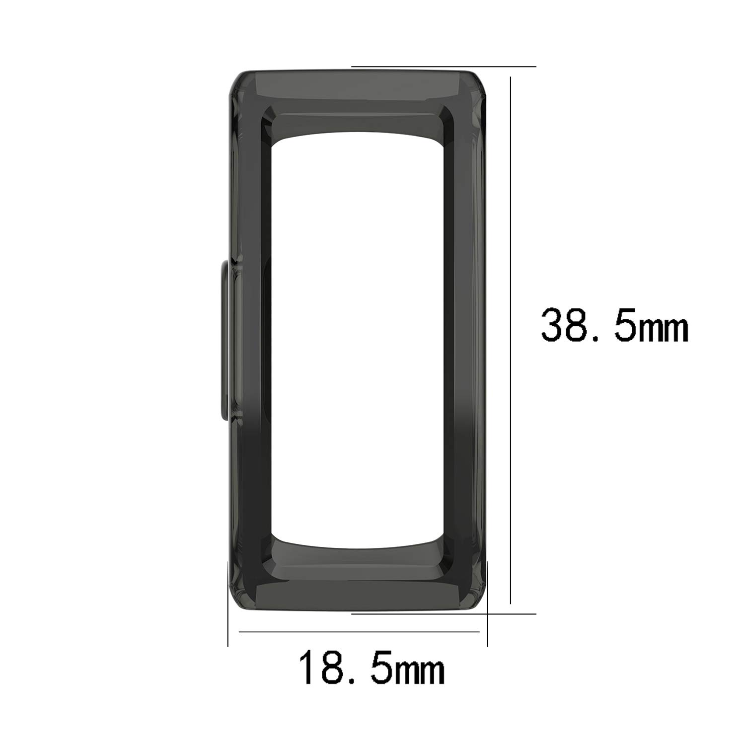 FASTSNAIL Protective Case for Fitbit Inspire/&Fitbit Inspire HR/&Fitbit Ace 2, Screen Protector Case Cover for Fitbit Inspire//Inspire HR//Ace 2 Activity Tracker 6Pack