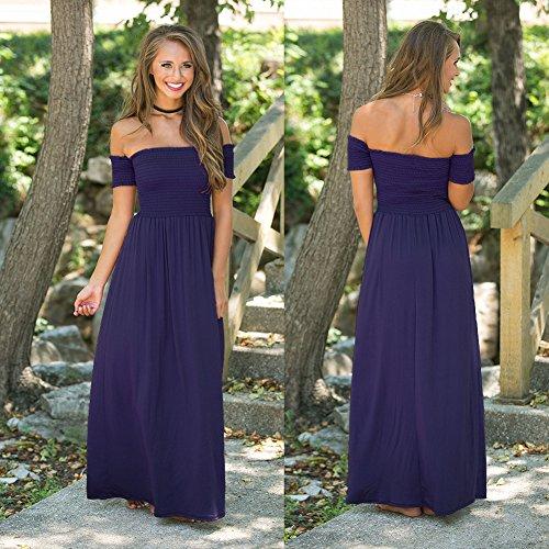Para De Noche Pecho Vestido Verde De Fiesta Color De Vestidos Mujer Vestido Fiesta Vestido Un Blue Hombro Mujer Vestidos JIALELE B4pqnxgxY