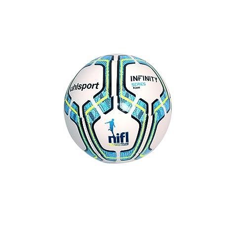 uhlsport Pro Synergy Balón de fútbol, Hombre, White/Navy/Fluo ...