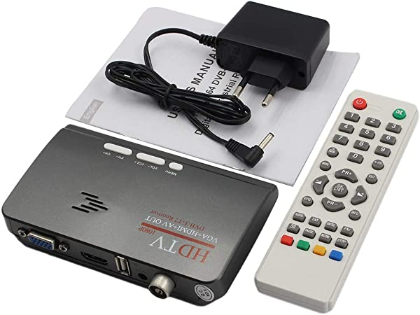 Digital TV PC Program Receiver HD 1080P for TV Tuner Box Dongle LCD CRT Monitor
