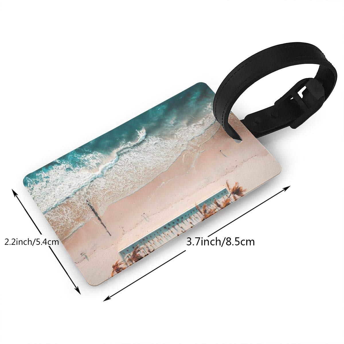 Beaches Handbag Tag For Travel Bag Suitcase Accessories 2 Pack Luggage Tags