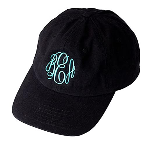 United Monograms Monogrammed Baseball Hat (Black) at Amazon Women s ... 34be1a80d3e9