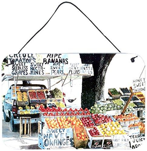 8 x 12 Multicolor Carolines Treasures Fruit Stand Indoor or Aluminum Metal Wall or Door Hanging Prints