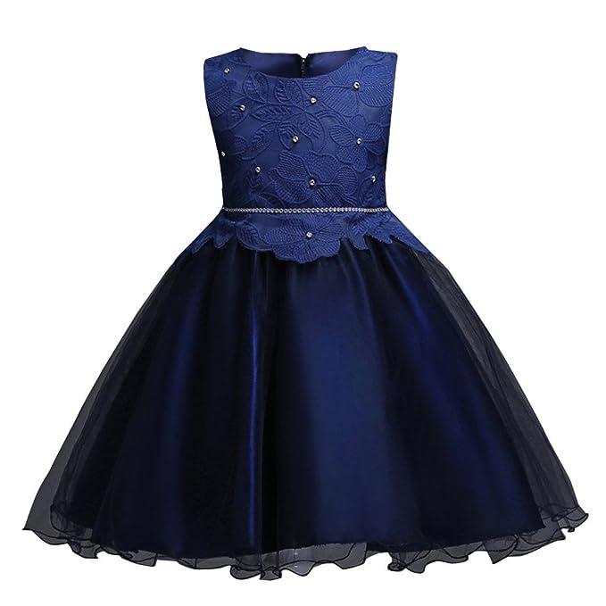 Kinder Mädchen Kleid Ulanda Festlich Kinderkleid Blumensmädchenkleid  Festzug Hochzeit Prinzessin Kleid Lace Tutu Tulle Gown Geburtstag f282a80a18
