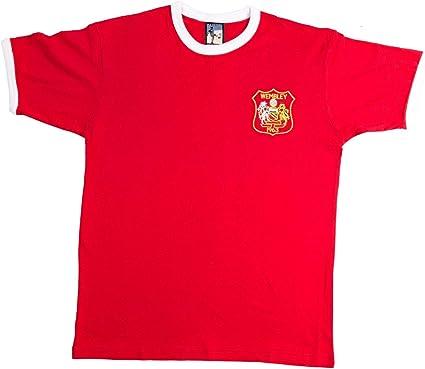 Old School Shop Retro Manchester United 1963 Fútbol Camiseta Tallas S-XXL Logotipo Bordado