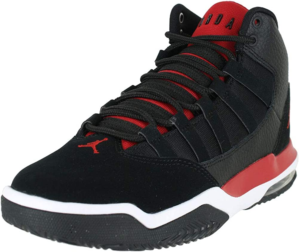 New With Box Jordan Max Aura Black White Red Size 5 CT1504-001 GS