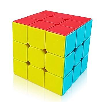 FAVNIC Speed Cube3x3, Cubless Magic Cube qiyi Warrior w 3x3 Speed Magic Cube Puzzle para niños y Adultos (3x3)
