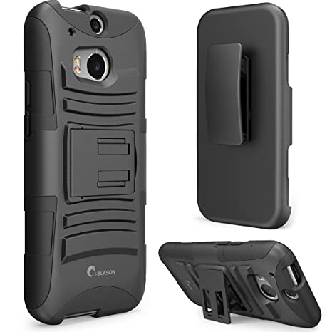 HTC One m8 Case, i-Blason Prime Series Dual Layer Holster Cover with  Kickstand and Locking Belt Swivel Clip for HTC One Case 2014 for HTC One M8
