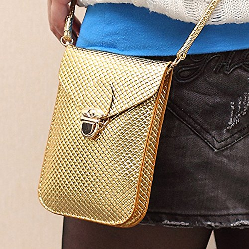 Bag Lady Wicemoon Bag Crossbody For Wallet Leather Women's Across Shoulder Handbags Storage Bag Women gold Body PU Cosmetic Bag Tpp7rB