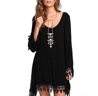 Frozac Loose Long Sleeve Party Dress Women Casual Black Tassel Vestidos New New Summer Boho Beach