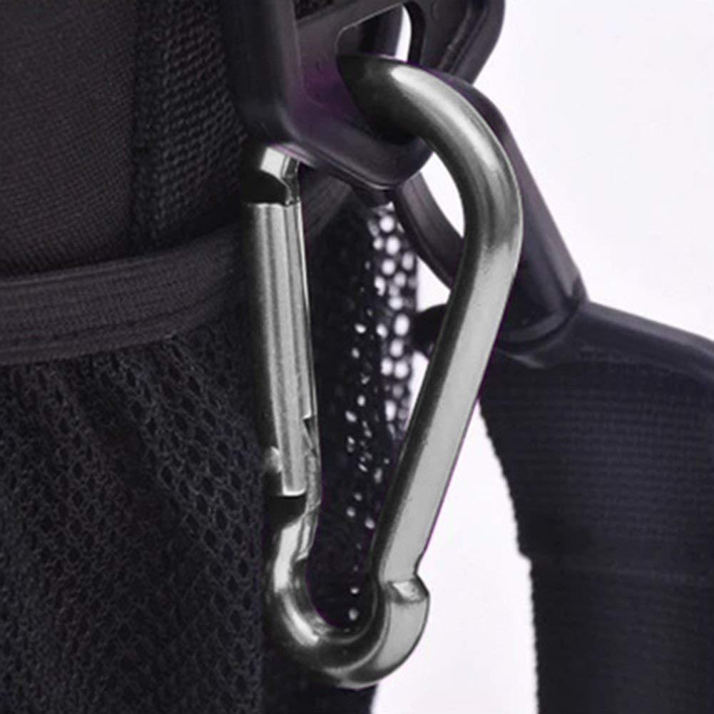 20 Pack Spring Snap Hook Carabiner Galvanized Steel Clip Keychain