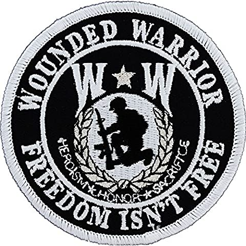 Wounded Warrior Shield Round Patch Military Gifts Patches for Jackets Hats Vests - Military Vet Patch