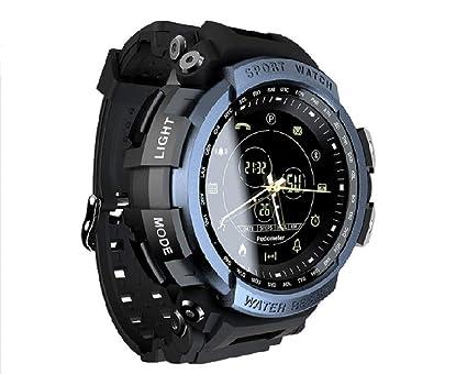Montre Connectée Smartwatch Podomètre Etanche IP68 pour Homme Cardio Fitness dActivité pour iPhone Samsung Huawei Android (Bleu): Amazon.fr: Montres
