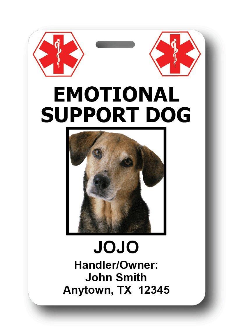 Custom Emotional Support Dog ID Cards (2 credit card sized ID cards)