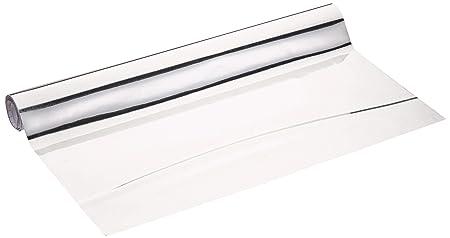 WENKO 5108013500 Klebe-/ Spiegelfolie, zuschneidbar, Polyethylenterephthalat, 58 x 150 cm, silber
