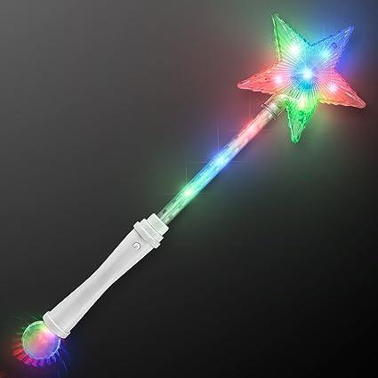 LED Flashlight Flashing Wand Light Wand Party Star Heart Fiber Flashing Wands Wand