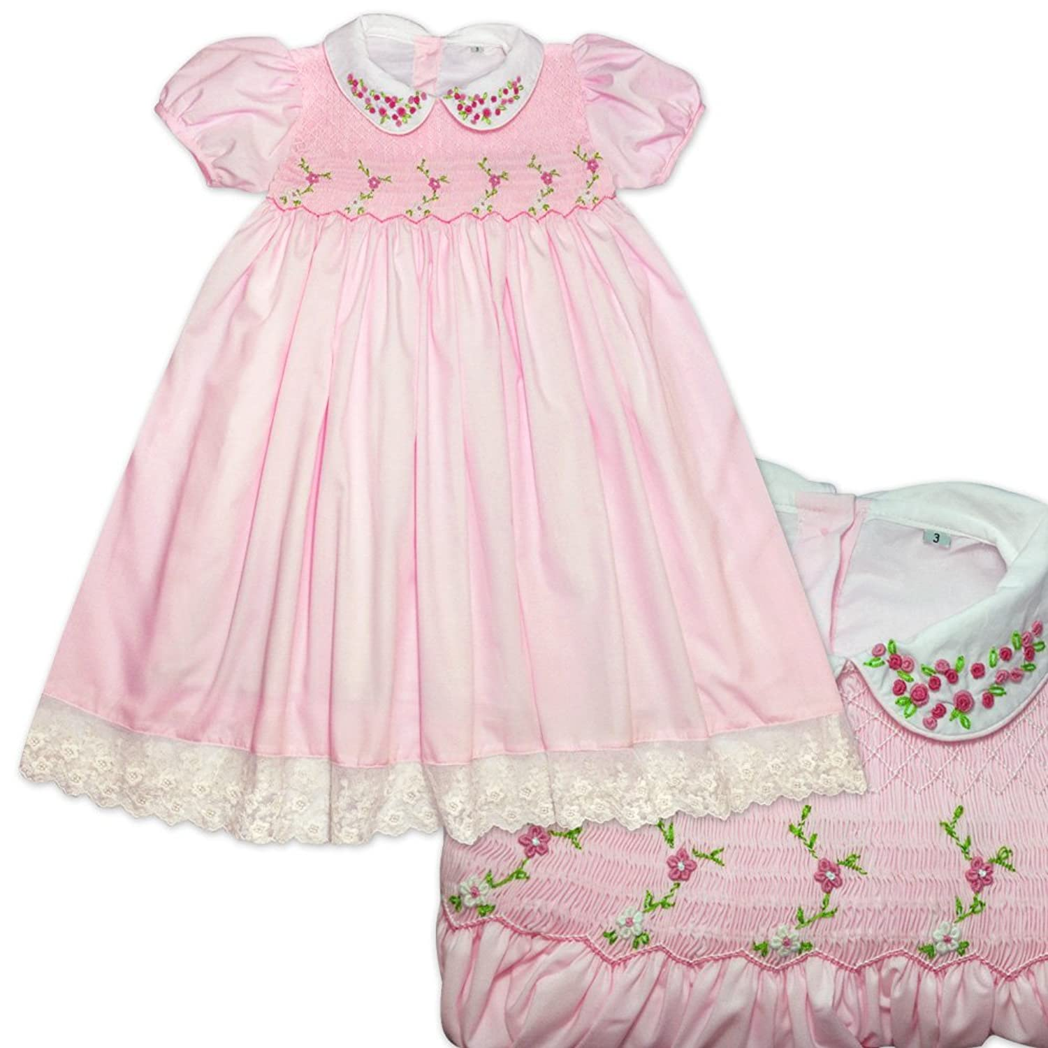 Baby Girls Traditional Hand Smocked Hand Embroidered 12 18 Months