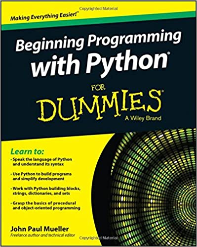 For with beginning dummies python pdf programming