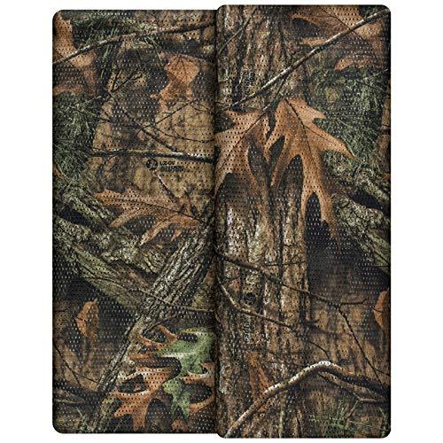 Waxaya Camo Burlap Cradle Mesh Camouflage Netting Cover for Hunting Blinds Sunshade Decoration(59