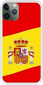 Funda Transparente para [ iPhone 11 Pro MAX ] diseño [ Ilustración 2, Bandera de España ] Carcasa Silicona Flexible TPU: Amazon.es: Electrónica