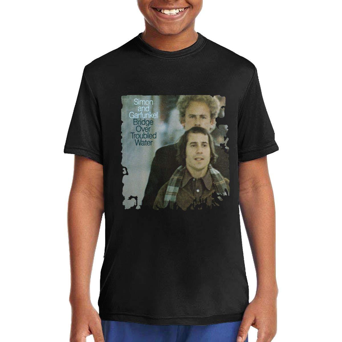 Donalddedwards Girls Simon Garfunkel T Shirt Unisex Juvenile Tshirts Black