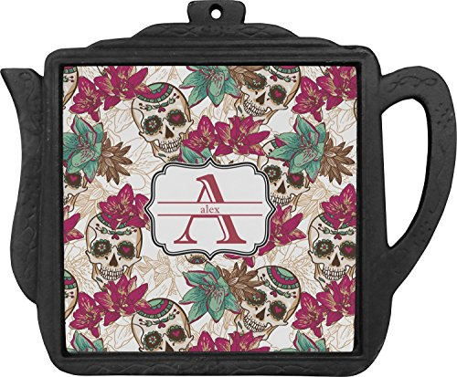 - Sugar Skulls & Flowers Teapot Trivet (Personalized)