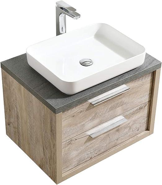 /Armoire de rangement Meuble lavabo Ensemble de meubles de Badplaats Armoire de salle de bain Montr/éal XL 60/cm Lavabo Lefkas/