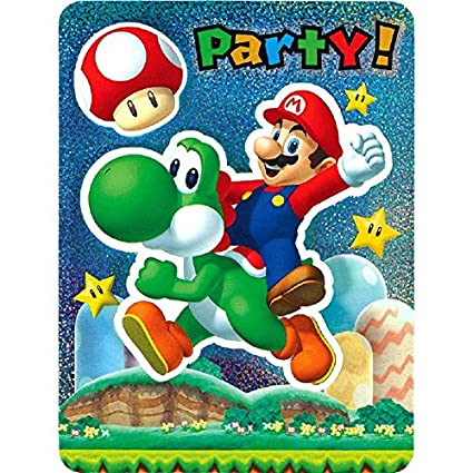 Amazon Com Amscan Super Mario Brothers Party Invitations Pack Of