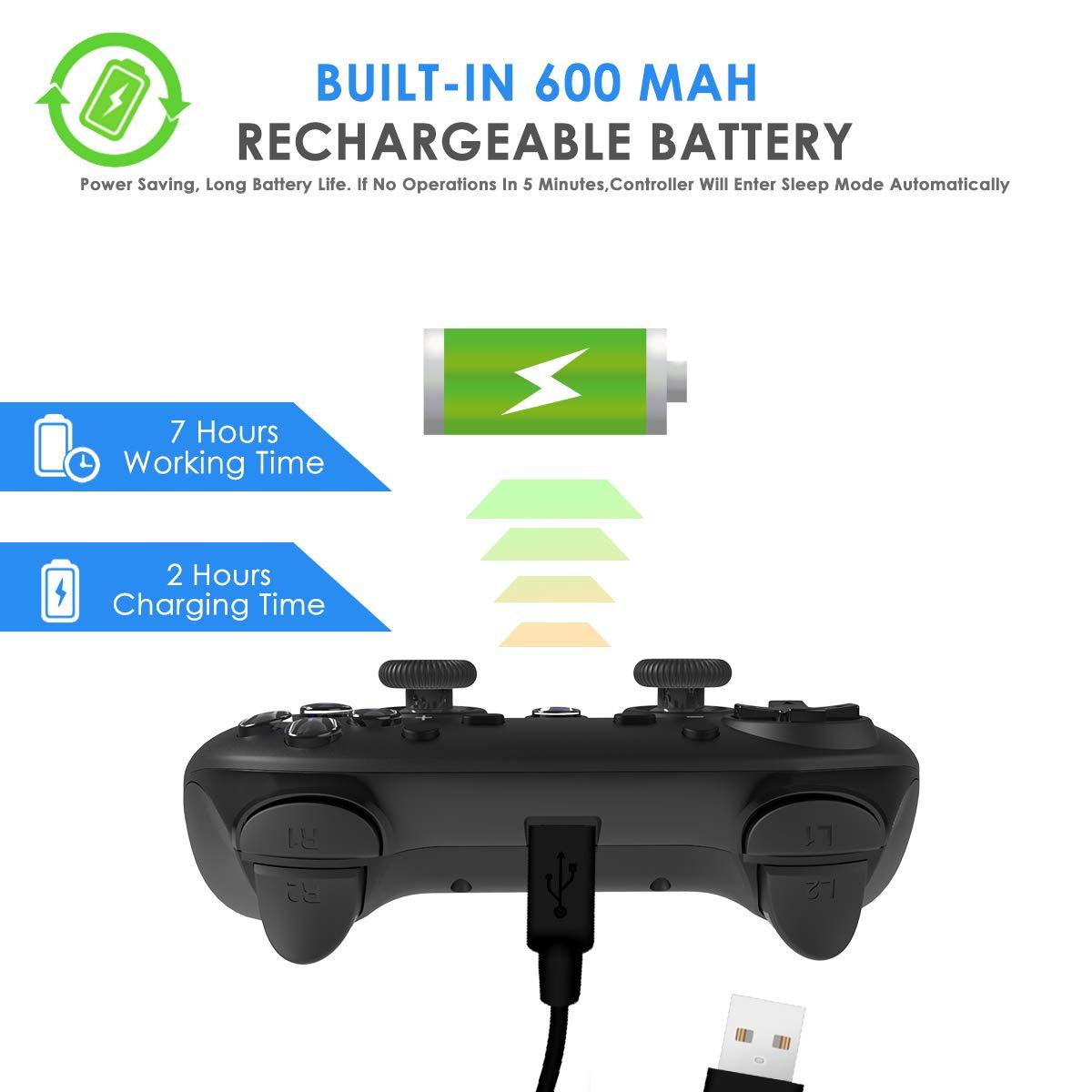 CHEREEKI Mando Inalámbrico, Controlador Switch, Controlador Inálambrico Azul para Nintendo Switch Gamepad Mando de Juegos (Función de Eje giroscópico de Soporte) (Negro)