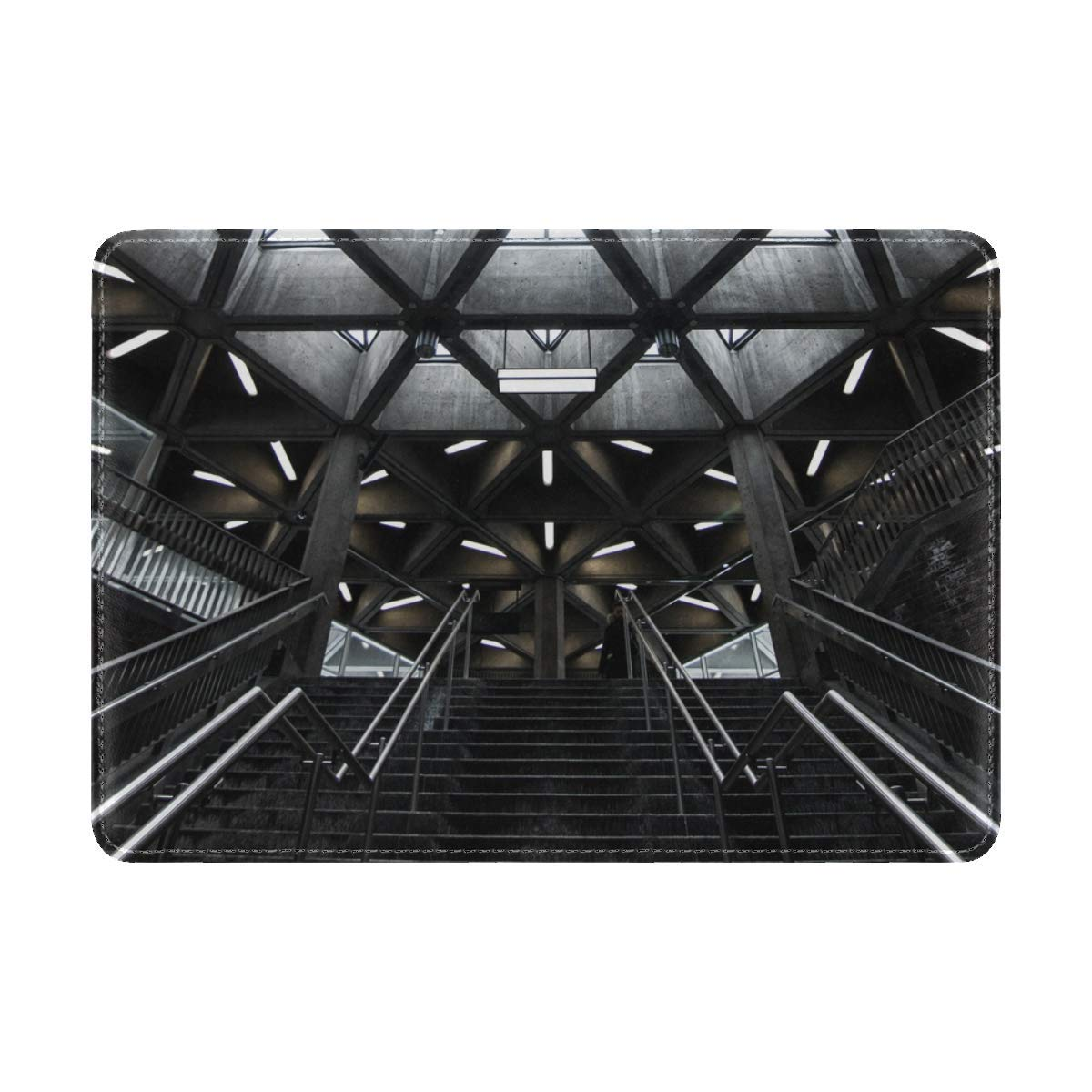Stairs Ceiling Architecture Leather Passport Holder Cover Case Travel One Pocket