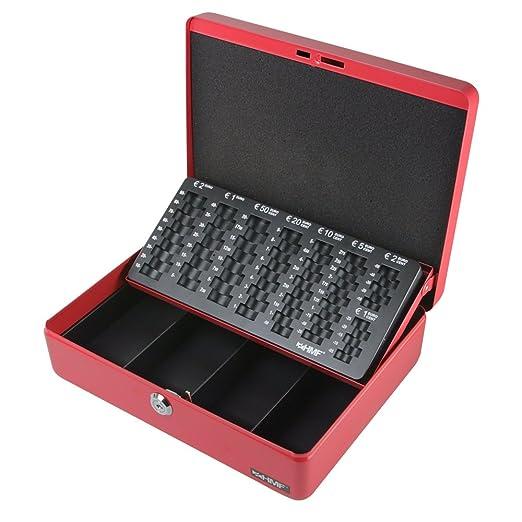61 opinioni per HMF 10015-03 Cassetta Portavalori con Vassoio Porta Monete e Banconote 30 x 24 x