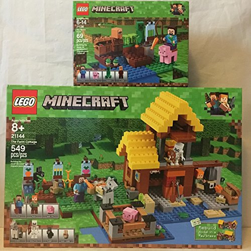 LEGO Minecraft the Farm Cottage & LEGO Minecraft the Melon Farm