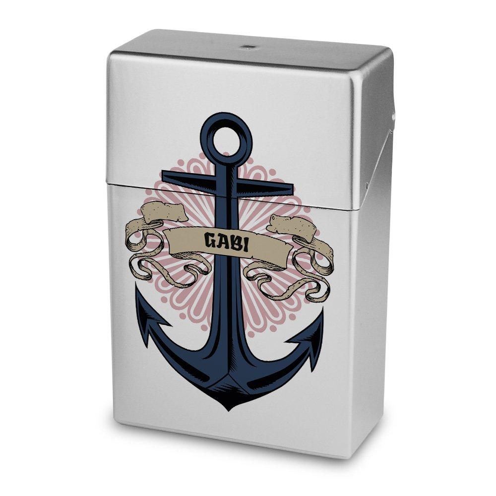 Zigarettenbox mit Namen Gabi - Personalisierte Hülle mit Design Anker - Zigarettenetui, Zigarettenschachtel, Kunststoffbox