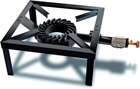 Hornillo Gas 4 patas profesional.Hornillo a Gas hierro fundido 4 patas uso profesional para botella de gas 13 kg