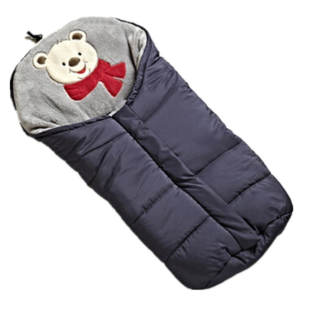 Winter Sleeping Bags Baby Envelope For Stroller Newborn Stroller Sleeping Bags Infant Winter Envelonp kids Pram Sleepsacks 0-24M (blue) by MICHEALWU