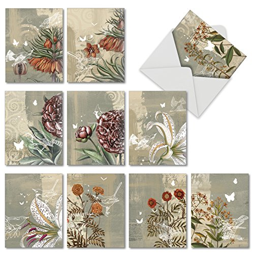 10 Assorted 'Floral Collages