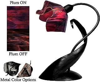 product image for Jezebel Radiance Lazy Daisy Lamp. Hardware: Black. Glass: Plum, Flame Style