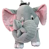 Toyboy Avs Elephant with Baby Cuddles Soft Toy (26 cm, Grey)