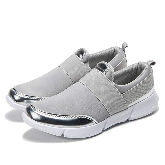 JiaMeng Mocasines onales de Malla Zapatos Planos Transpirables Zapatillas Suaves Zapatillas de Gimnasia Zapatillas de Deporte con Cojines de Aire Calzado: ...