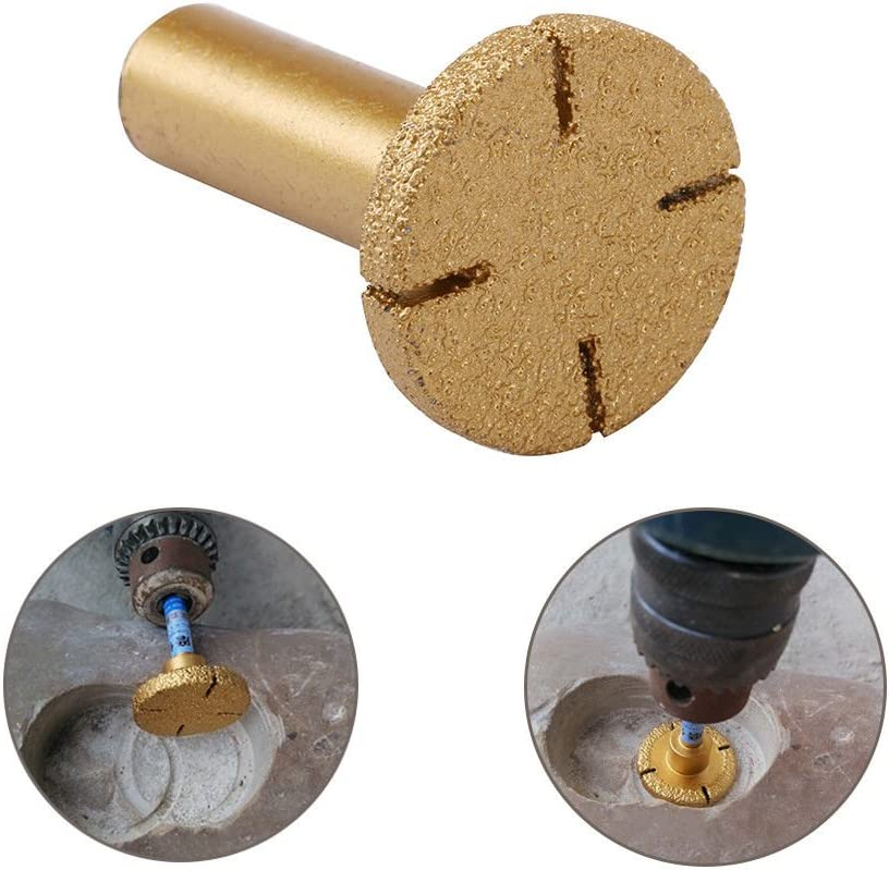 1//2 Shank Vacuum Brazed Coated Diamond Router Bits for Granite Marble Grinding Rotary Tool