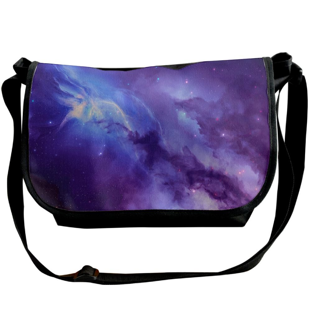 6fe635b115 Unisex Wide Diagonal Shoulder Bag Blue And Violet Galaxy Nebula Printed  Casual Messenger Single Shoulder Bag