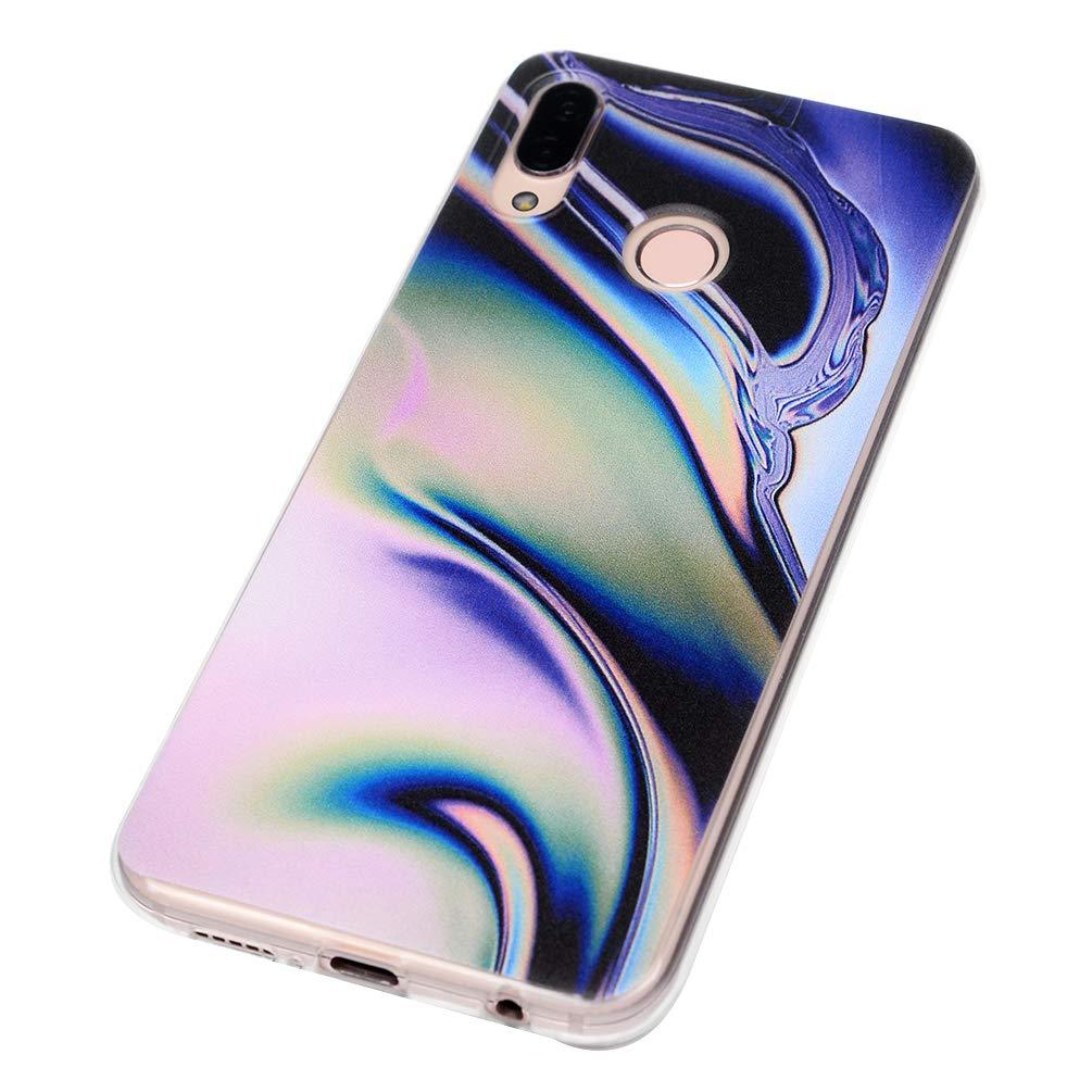 Silicone Housse Protection Bumper Antichoc Gel Souple TPU Case Cover Coque Transparente en TPU /à Motif Peint pour Huawei P20 Lite Requin GuardGal Coque pour Huawei P20 Lite
