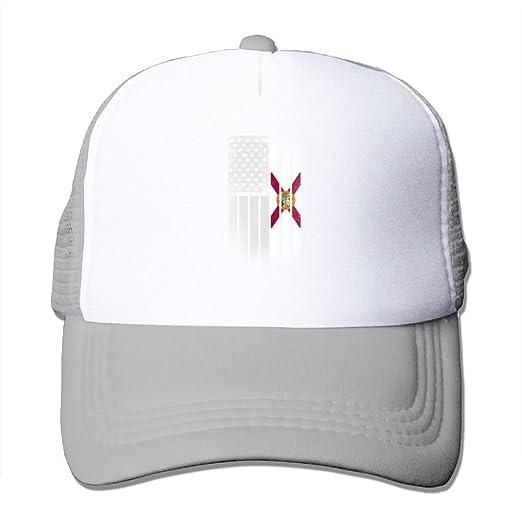 4fe07f9e5c482 Hanfjj Kefdk Mesh Baseball Caps Florida American Flag Unisex Adjustable Dad  Trucker Hat