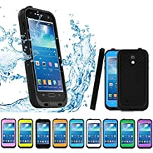 Sunwukin Cases for Galaxy S4 Waterproof Case , Dust Snow Shock Proof Cover with Touched Transparent Screen Protector, Heavy Duty Protective Carrying Cases for Samsung - Black