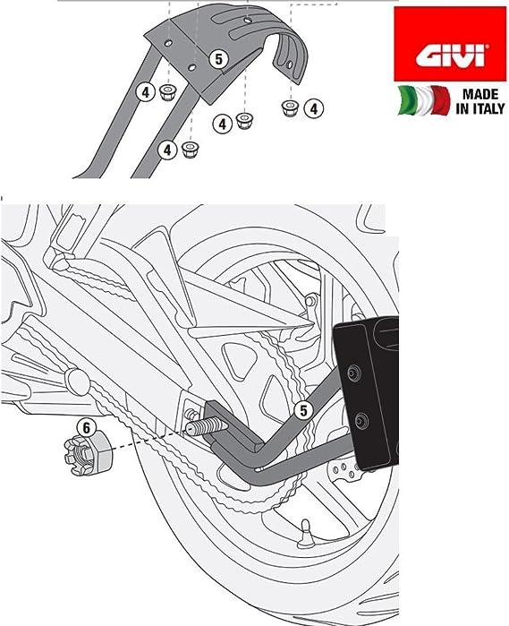 Givi Rm3114kit Montagekit Für Universal Hinterradabdeckung Auto